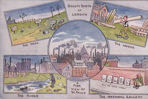 Vintage art postcard of London beauty spots