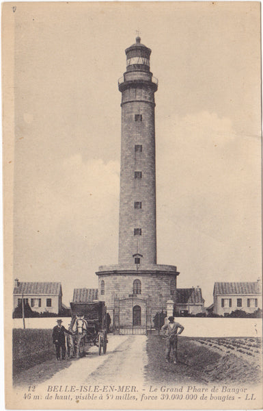 BELLE ISLE EN MER - LE GRAND PHARE - LIGHTHOUSE - LL POSTCARD (ref 1593/18)