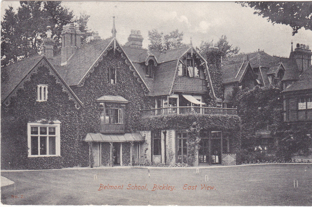 Belmont School, Bickley, East View - nr Bromley, Kent - now demolished