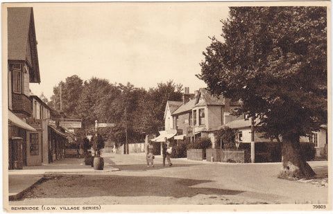 Old postcard of Bembridge, Isle of Wight