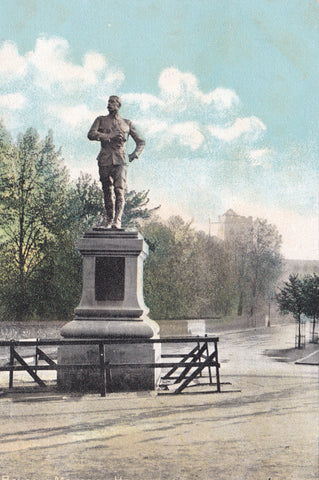 Old postcard of Benson's Memorial, Hexham