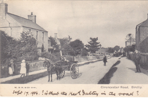 Old postcard of Cirencester Road, Birdlip in Gloucestershire
