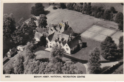 BISHAM ABBEY, NATIONAL RECREATION CENTRE AERIAL POSTCARD