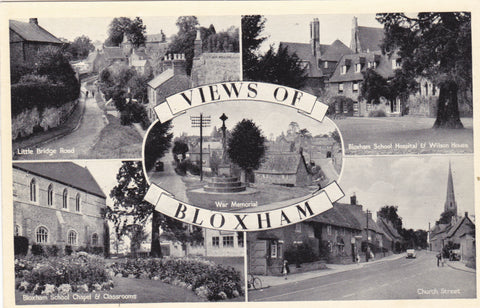 Views of Bloxham, Oxfordshire, old postcard