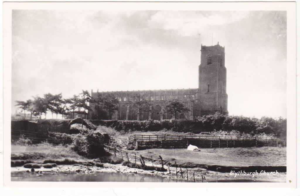Blythburgh Church, Suffolk - real photo postcard