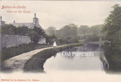 BOLTON LE SANDS - VIEW ON THE CANAL, OLD POSTCARD  (ref 3943/20/C)