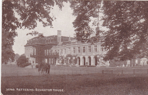 Old postcard of Boughton House, Kettering