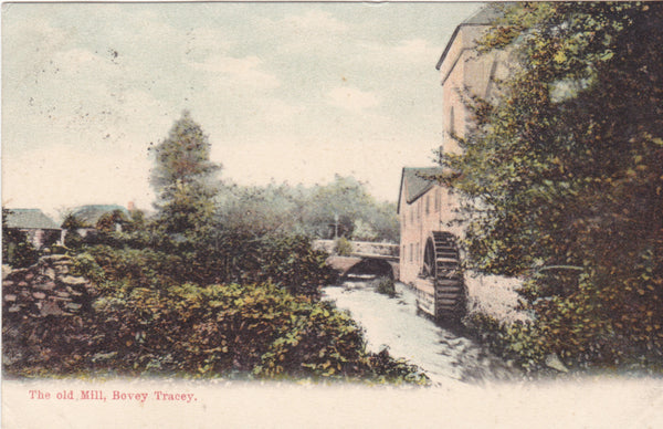 Old postcard of the Old Mill, Bovey Tracey in Devon