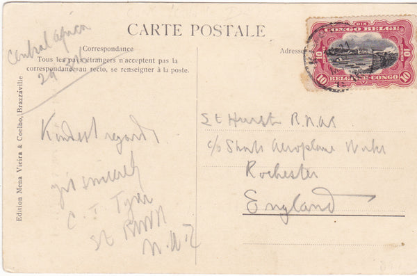 LE 14 JUILLET A BRAZZAVILLE - LES TAMS-TAMS - 1916 AFRICAN CONGO POSTCARD (ref 3092/17)
