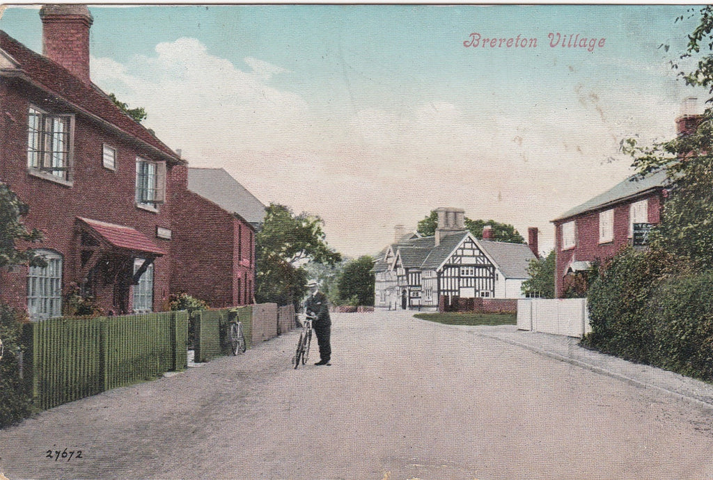 Old postcard showing Brereton Village, nr Sandbach