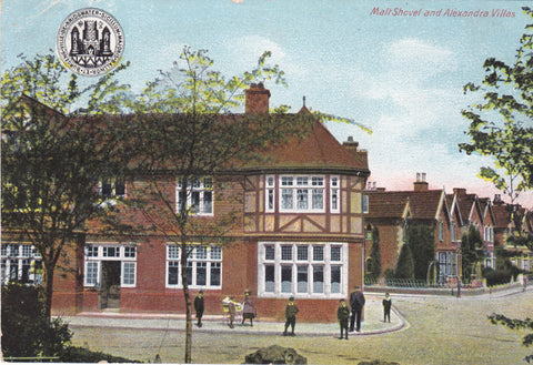 Old postcard of Bridgwater, Malt Shovel and Alexandra Villas