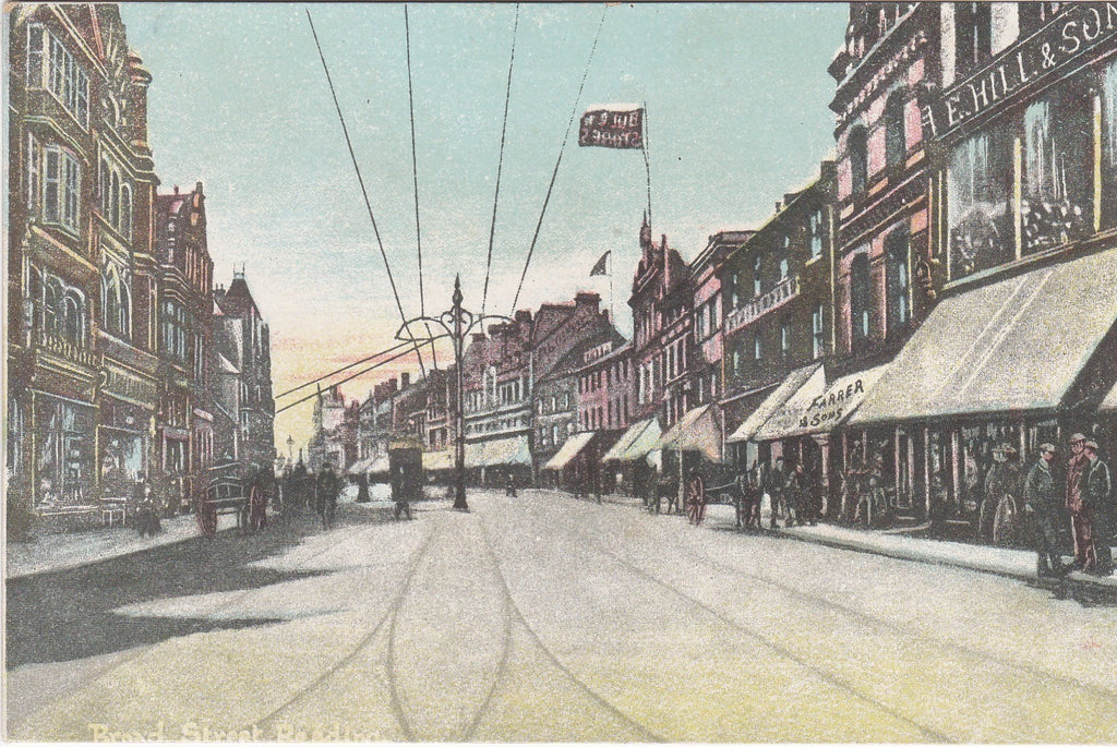 Old postcard of Broad Street, Reading