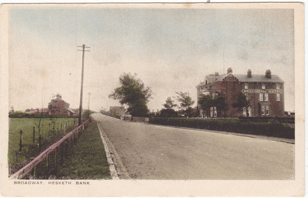 Broadway, Hesketh Bank showing Becconsall Hotel