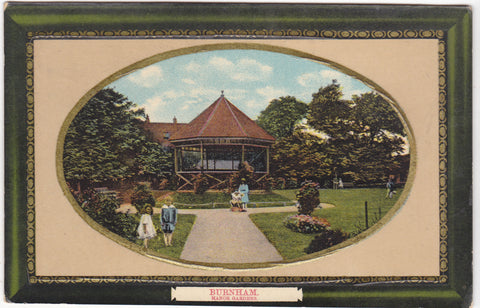 Vintage postcard of Manor Gardens, Burnham in Somerset