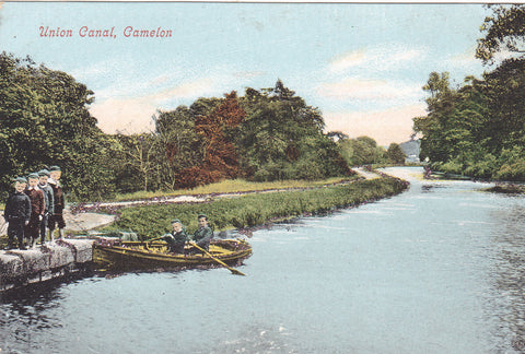 Old postcard of the canal at Camelon, Stirlingshire