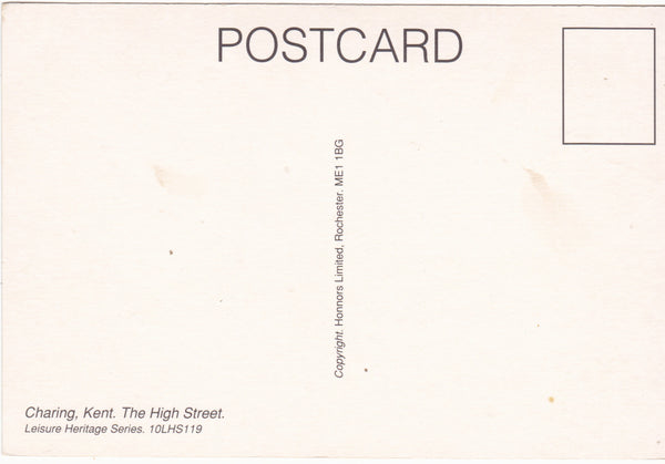 CHARING, KENT - THE HIGH STREET - MODERN SIZE POSTCARD (ref 3196)