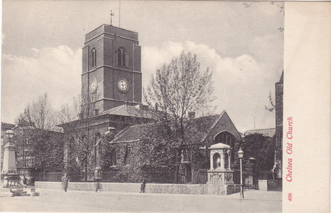 Old postcard of Chelsea Old Church