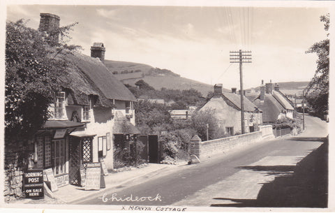 Real photo postcard of Chideock in Dorset