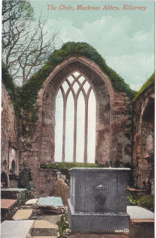 Old postcard of The Choir, Muckross Abbey