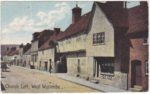 Old postcard of Church Loft, West Wycombe in Buckinghamshire