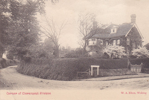 Old postcard of Claremont Avenue, Woking