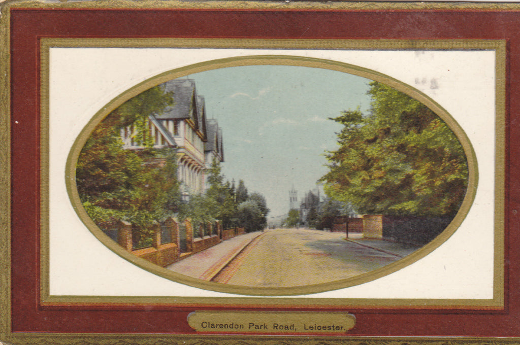 Clarendon Park Road, Leicester old postcard