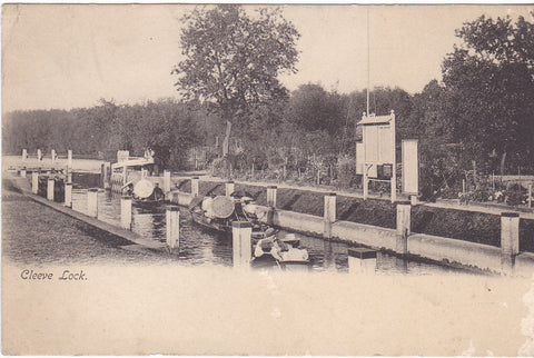 CLEEVE LOCK - OXFORDSHIRE - OLD OXFORDSHIRE POSTCARD (ref 3972/20/C)