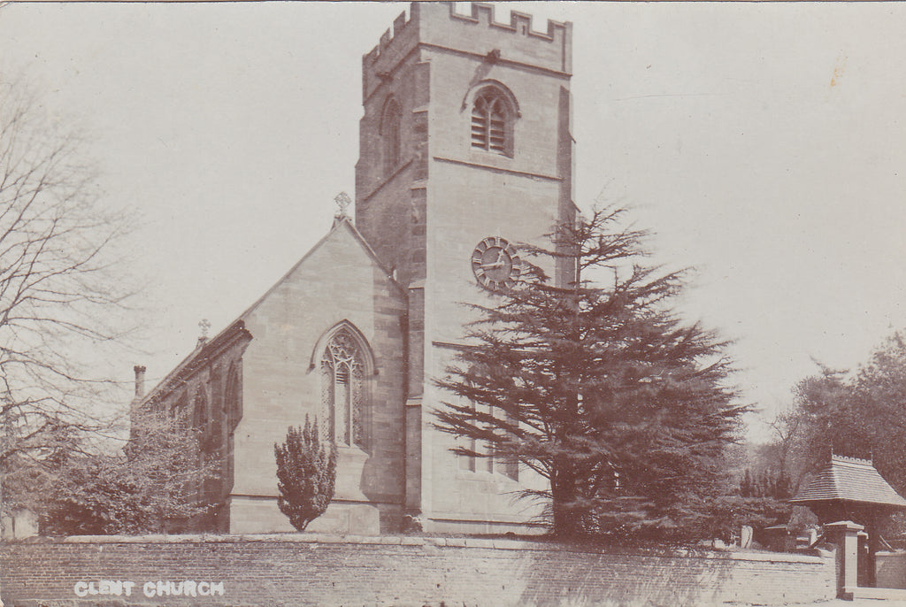1907 real photo postcard of Clent Church in Worcestershire