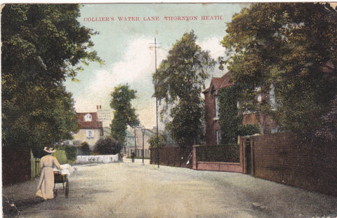 Old postcard of Colliers Water Lane, Thornton Heath in Surrey