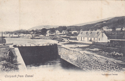 Old postcard of Corpach from the Canal - nr Fort William, Inverness-shire