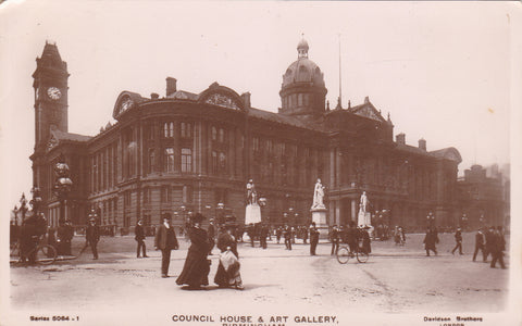 1907 real photo postcard of Council House & Art Gallery, Birmingham