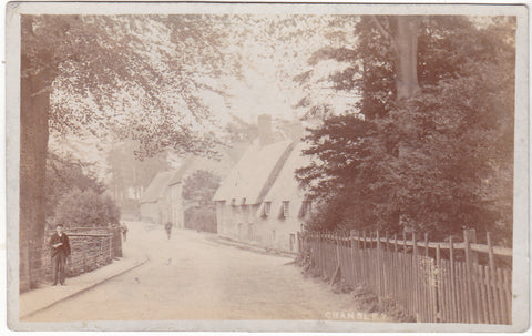 Old real photo postcard of Cransley, which is near Kettering