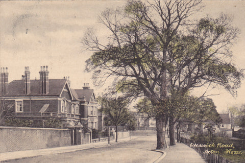 Old postcard of Creswick Road, Acton, London