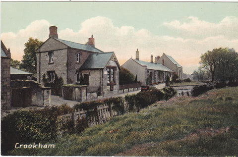 Old postcard of Crookham, Northumberland