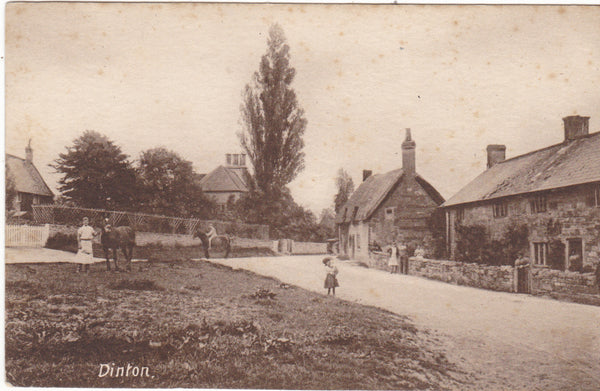 Dinton village near Salisbury postcard