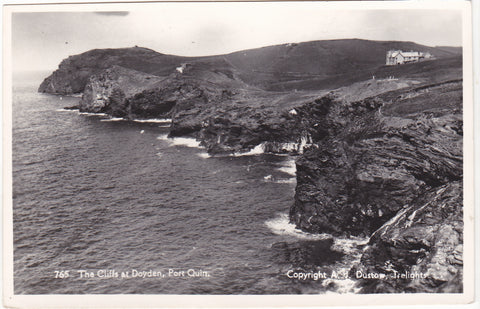 Real photo postcard of The Cliffs, Doyden, Port Quin in Cornwall