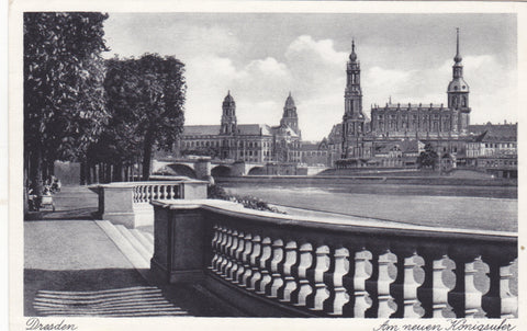 Old postcard of Dresden, before World War II