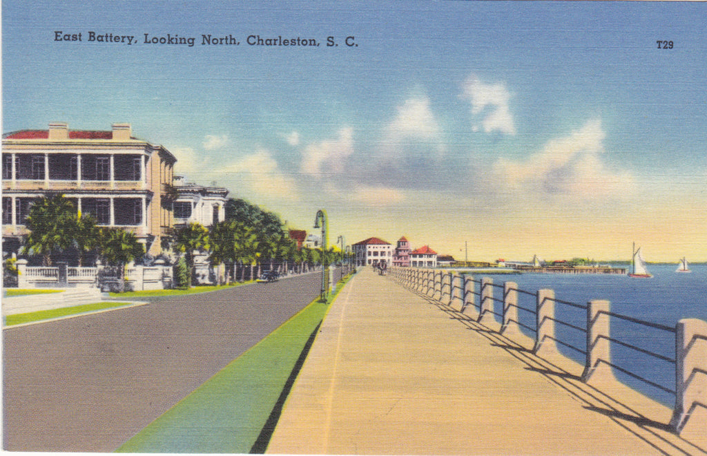 EAST BATTERY, LOOKING NORTH, CHARLESTON, S.C
