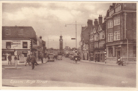 Epsom High Street - old postcard