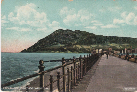 ESPLANADE, BRAY, CO. WICKLOW, IRELAND - OLD POSTCARD (ref 4112/18)