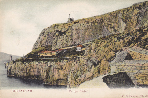 Gibraltar, Europa Point - old postcard