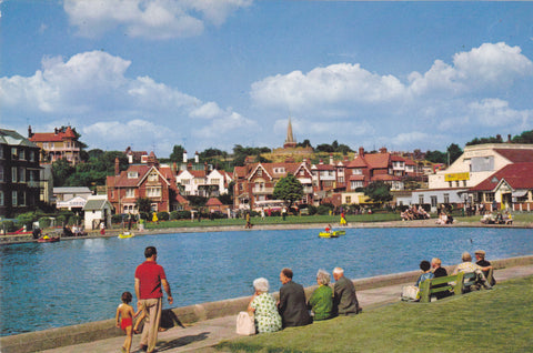 The Boating Lake on Sea Front, Felixstowe