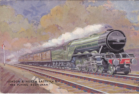 OLD POSTCARD OF THE FLYING SCOTSMAN - TUCK OILETTE RAIL POSTCARD (ref 1790/18)