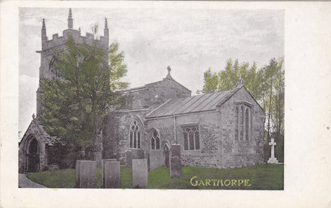 Garthorpe Church, Leicestershire, vintage postcard