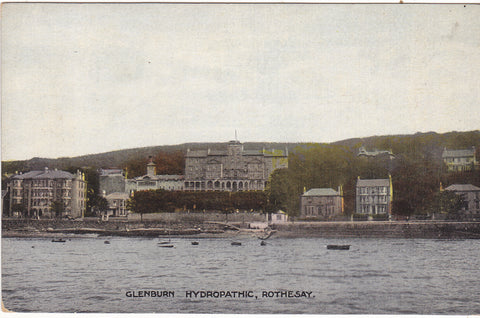 Old postcard of Glenburn Hydropathic, Rothesay, Scotland