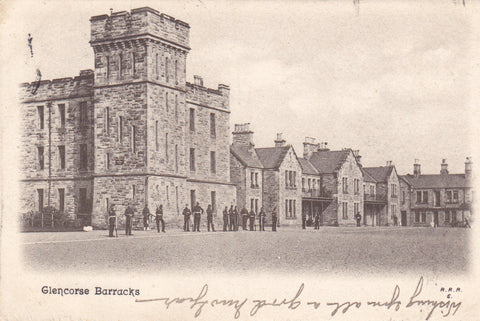 GLENCORSE BARRACKS - MIDLOTHIAN, SCOTLAND - OLD POSTCARD (ref 3681/18x2)