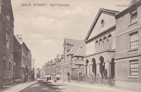 Old postcard of Gold Street, Kettering