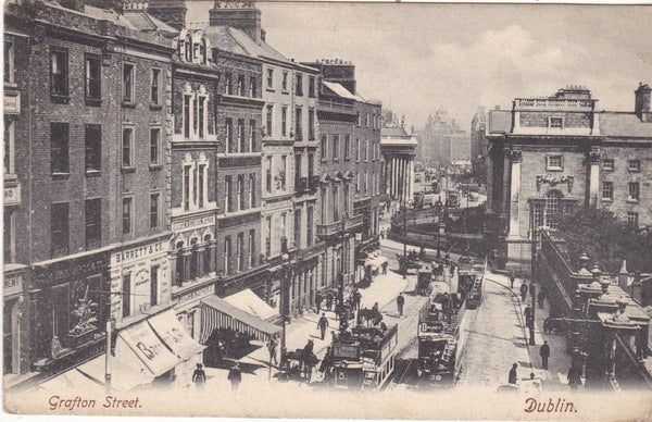 Old postcard of Grafton Street, Dublin
