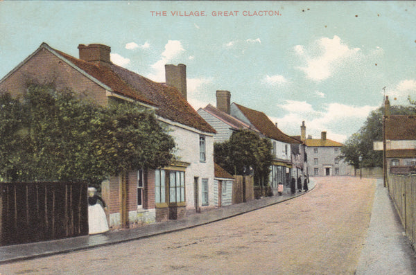 Old  postcard of Great Clacton, a suburb these days, of Clacton in Essex