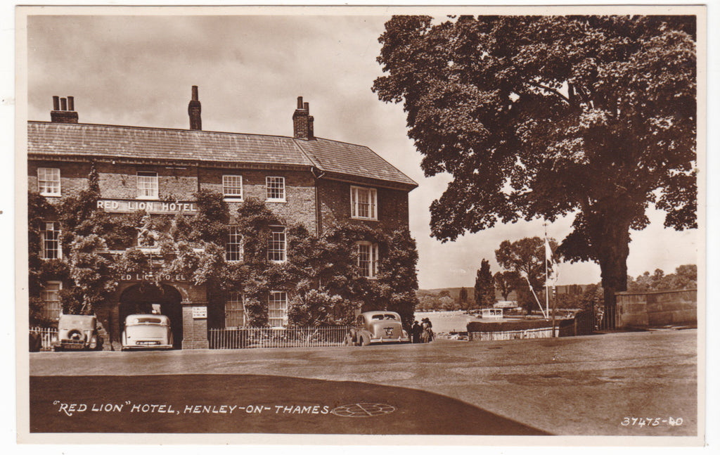 Red Lion Hotel Henley On Thames Kingsway Real Photo Series Postcard Old Postcards